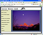 Leigh Creek LLC, screen shot of web page